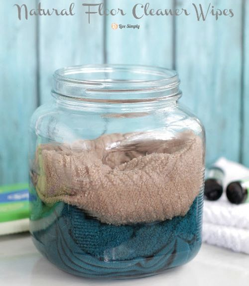 Natural Floor Cleaner Wipes | http://homestead-and-survival.com/natural-floor-cleaner-wipes/