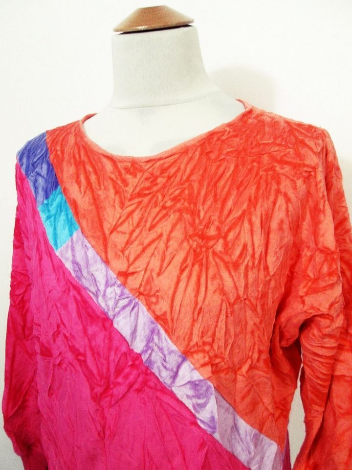 Vintage Velour Indie Hipster Bright 90s Jumper Sweater M
