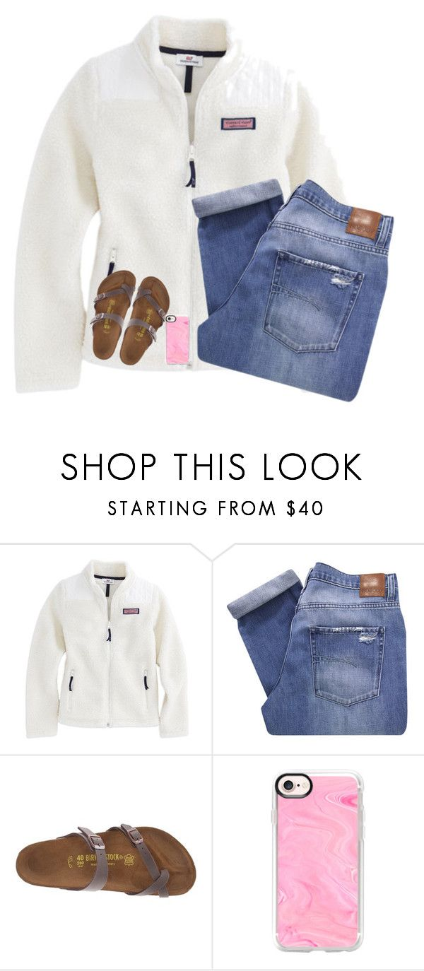 """""""qotd in description!"""" by nc-preppy-living ❤ liked on Polyvore featuring Nobody Denim, Birkenstock and Casetify"""
