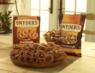 Chocolate & Peanut Butter Pretzel Sandwiches with #Snyders