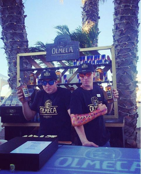 Beat the rush, Olmeca Tequila bar at Goldfish Submerged Sundays at Shimmy Beach Club