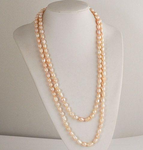 Collana Lunga di Perle d'acqua dolce - Collane - Gioielli - Gioielli in Pietre Dure e Preziose