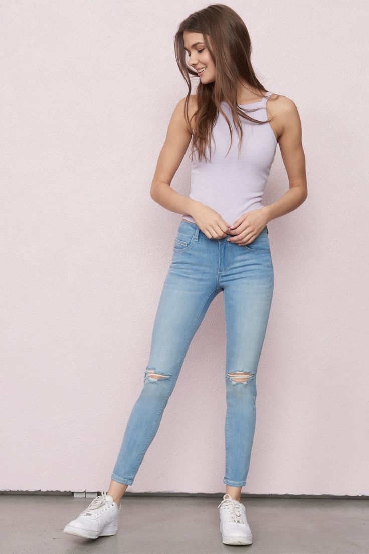Your other jeans will be jealous  Capri Blue High Waist Ankle Jegging