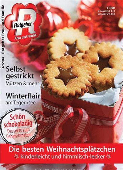Die besten Weihnachtsplätzchen. Gefunden in: Ratgeber Frau und Familie, Nr. 12/2014