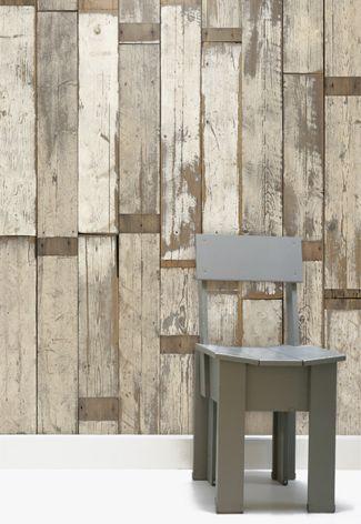 Steigerhout #behang | Wooden #wallpaper