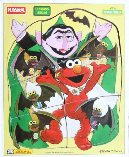 Elmo & The Count Wooden Frame Tray Learning Series Puzzle - 1994 Sesame Street Sesame Street http://www.amazon.com/dp/B00C0DBBTO/ref=cm_sw_r_pi_dp_DfHNtb1S140N1PFH