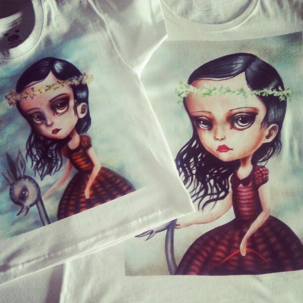 Airbrush t-shirt Dedicated to mummy and douther...