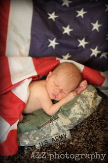 Newborn photography session, US ARMY, FLAG, baby, pictures, military