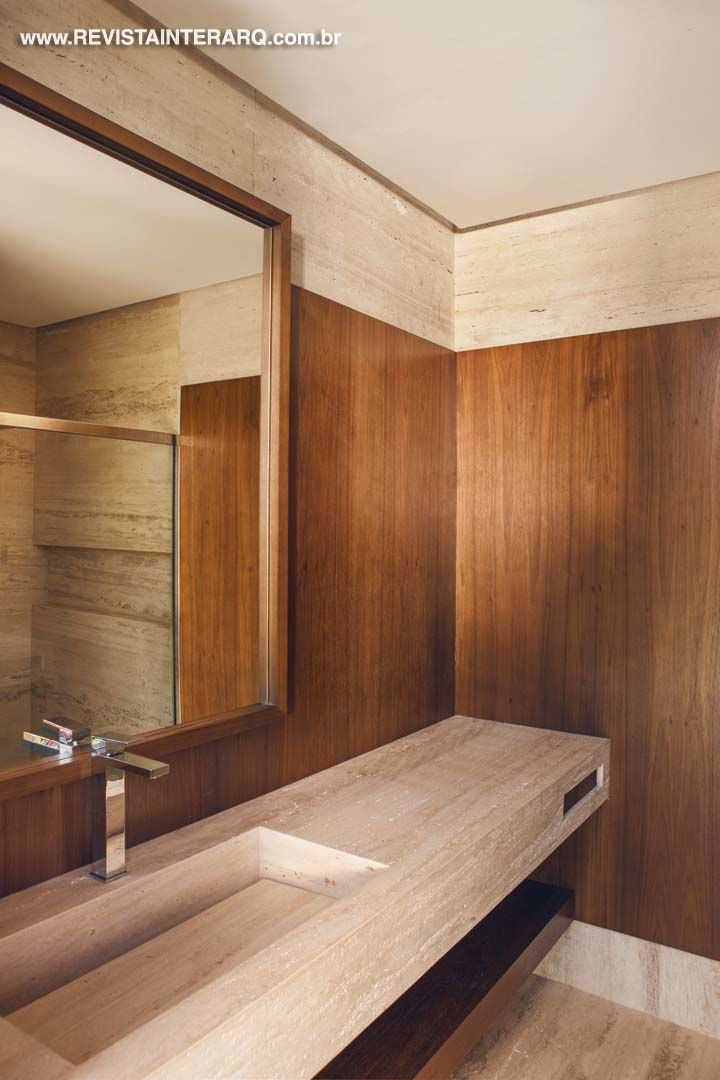 Lavabo por Valéria Gontijo + Studio de Arquitetura. www.comore.com.br/ #interarq…