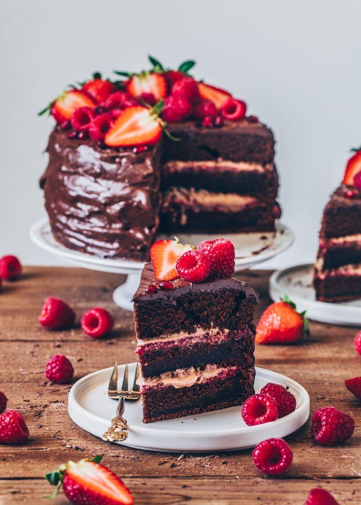Chocolate Raspberry Cake Recipe Desserts Tasty Chocolate Cake