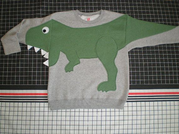 Kinder T-REX Dinosaurier applique von CreativeCallipipper auf Etsy