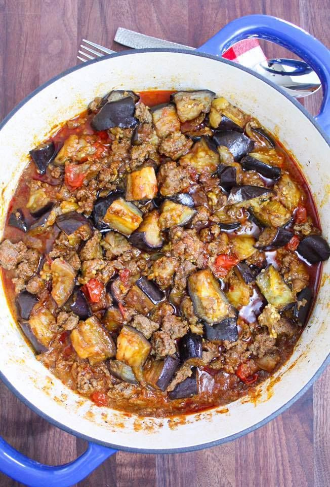Eggplant Ground Beef Recipe Maral In The Kitchen Ground Beef Recipes Beef Recipes Paleo Eggplant Recipes