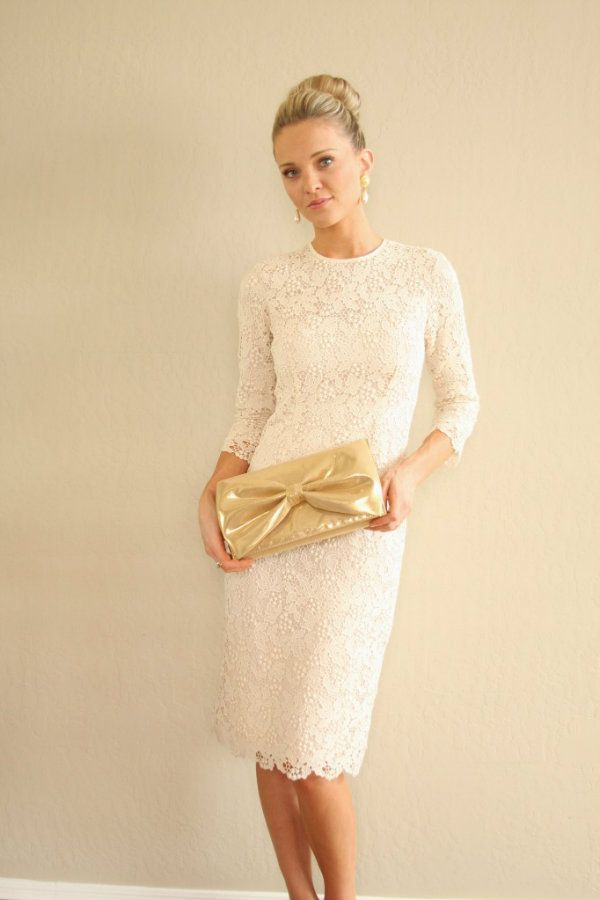 Gorgeous! Simple yet elegant second wedding dress or even a mother-of-the-bride in a color. Would love to create this one.