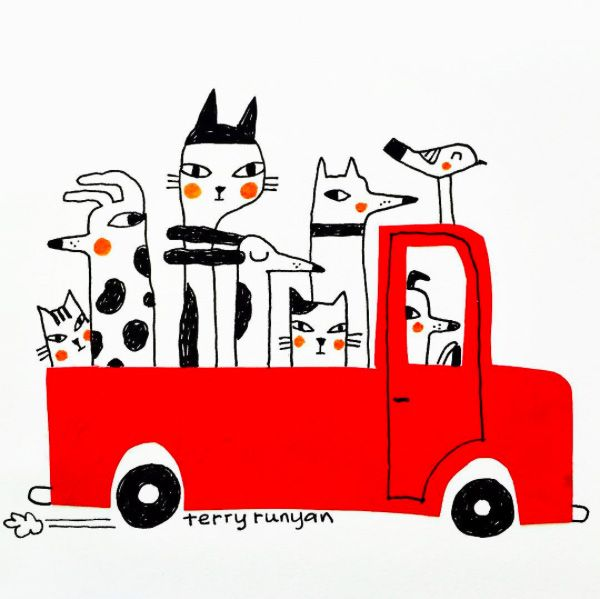 You can meet the pups over at Runyan's portfolio, and you can also find Runyan on Instagram and Society6.