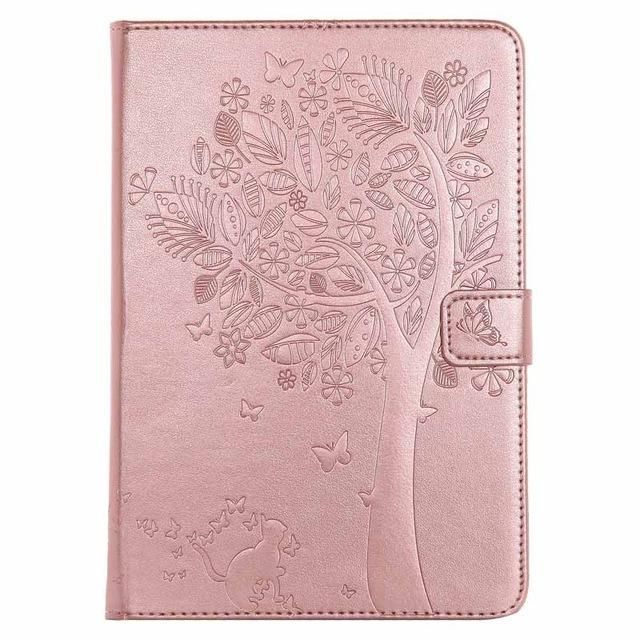 For Funda iPad Mini Case Cat Girl Embossed PU Leather Wallet Stand Case with Auto Wake/Sleep Smart Cover for iPad Mini 3 2 1 #CatGirl
