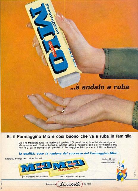 adv - 1964 - formaggino by sonobugiardo, via Flickr