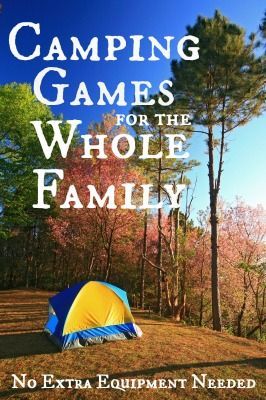 Best 25 Family Camping Games Ideas On Pinterest