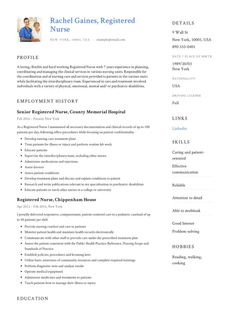Registered Nurse Resume Sample & Writing Guide in 2020
