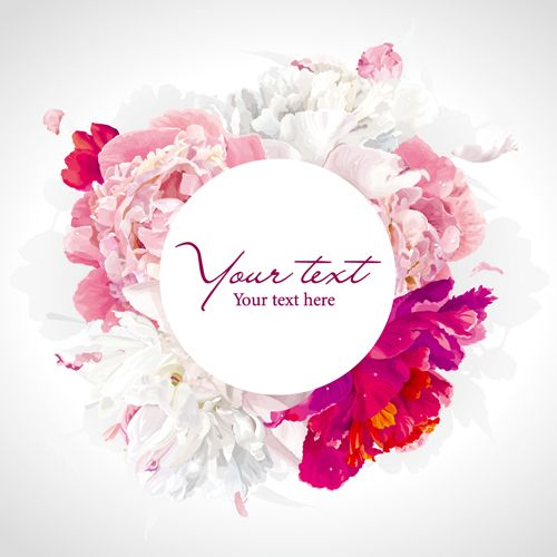 Beautiful peony flower vector background graphics - Vector Background free download