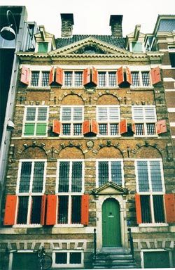 The Rembrandt House Museum is the house in Jodenbreestraat in Amsterdam, Netherlands, where Rembrandt lived and painted for nearly twenty years. It is now a museum. Rembrandt purchased the house in 1639 and lived there until he went bankrupt in 1656