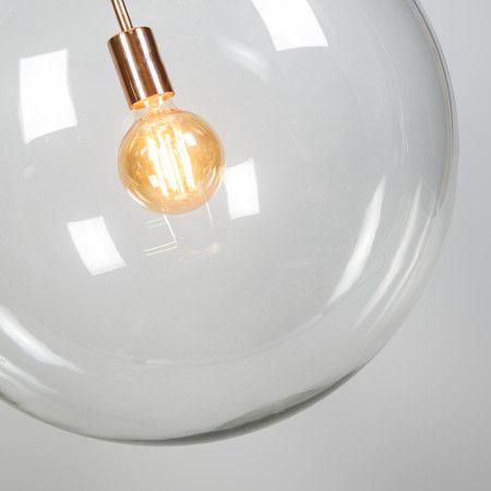 Hanglamp Ball 50 helder koper - Fantastisch vormgegeven hanglamp, dit tijdloze ontwerp zal een zeer sierlijk en sfeervol effect in uw woning of kantoor realiseren. Laat uw fantasie de vrije loop met de strakke Ball hanglampen serie! #nieuw #hanglamp #koper #binnenverlichting