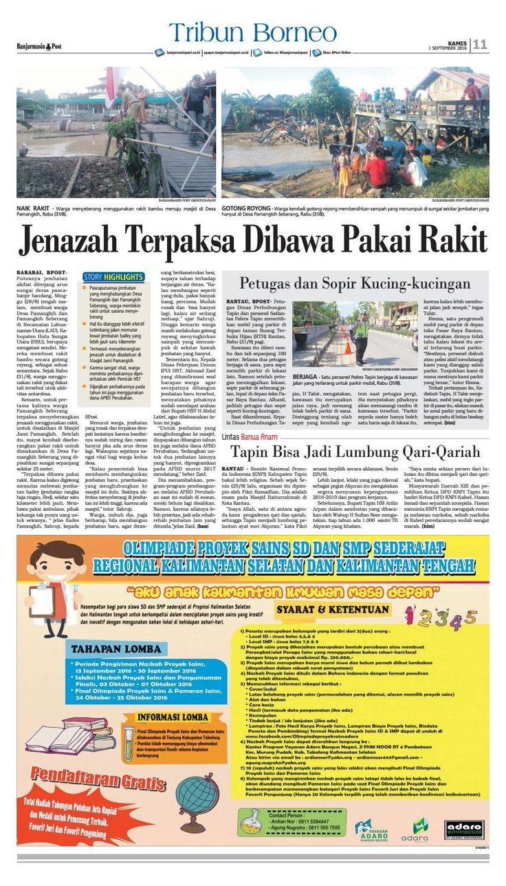 #ClippedOnIssuu from Banjarmasin Post Kamis 1 September 2016