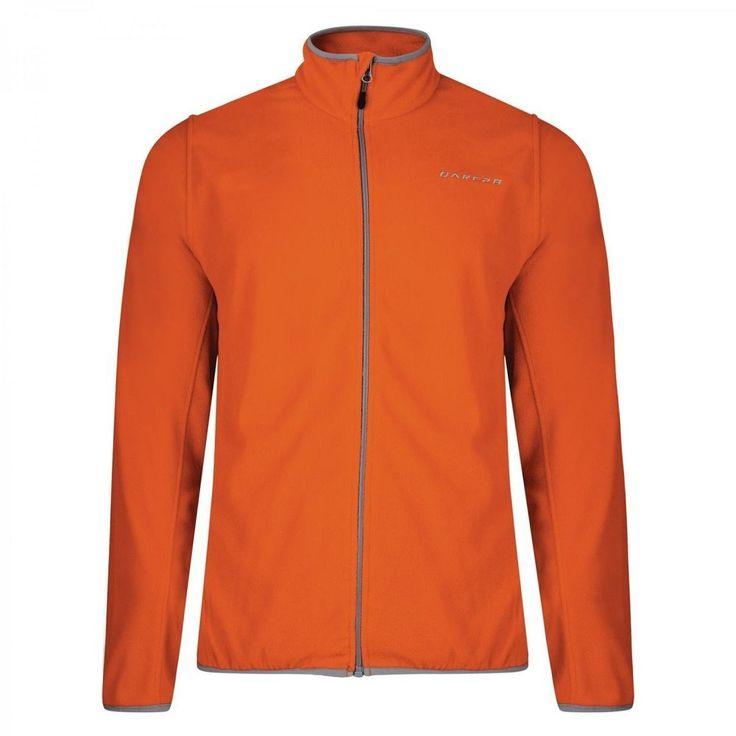Dare2b Resile Mens Mid-weight Stretch Mid Layer Fleece Jacket Orange XXXL