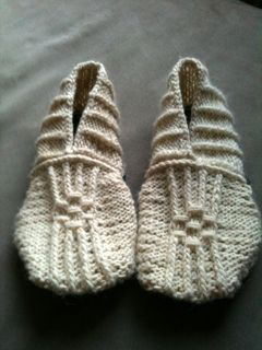 Japanese House Slippers. Bulky weight yarn.