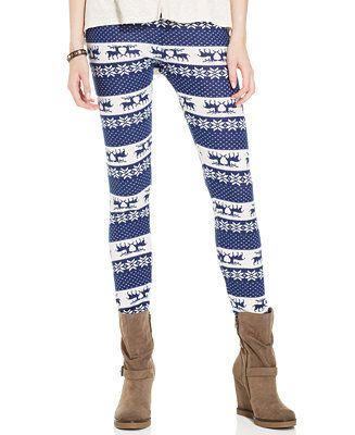 For only GBP 8.52, you can own these Pink Rose Juniors' Sweater Leggings at Macy's UK #UglySweater #Swagbucks #CandyCaneGang Carnival90 @swagbucks