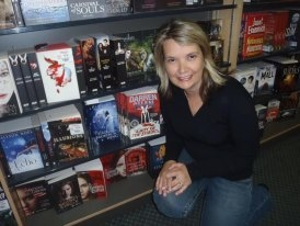 ya author D L Richardson at a local bookshop in Batemans Bay (Brown Books) at the first release in print of The Bird With The Broken Wing.