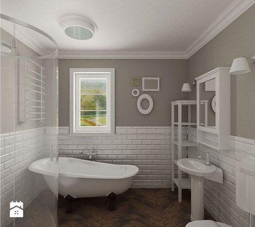 Aranżacje wnętrz - Łazienka: łazienka i białe cegiełki - Archomega Biuro Architektoniczne. Przeglądaj, dodawaj i zapisuj najlepsze zdjęcia, pomysły i inspiracje designerskie. W bazie mamy już prawie milion fotografii!