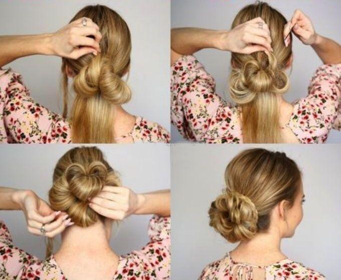 Прическа пучок на средние волосы (фото) — Своими руками ...