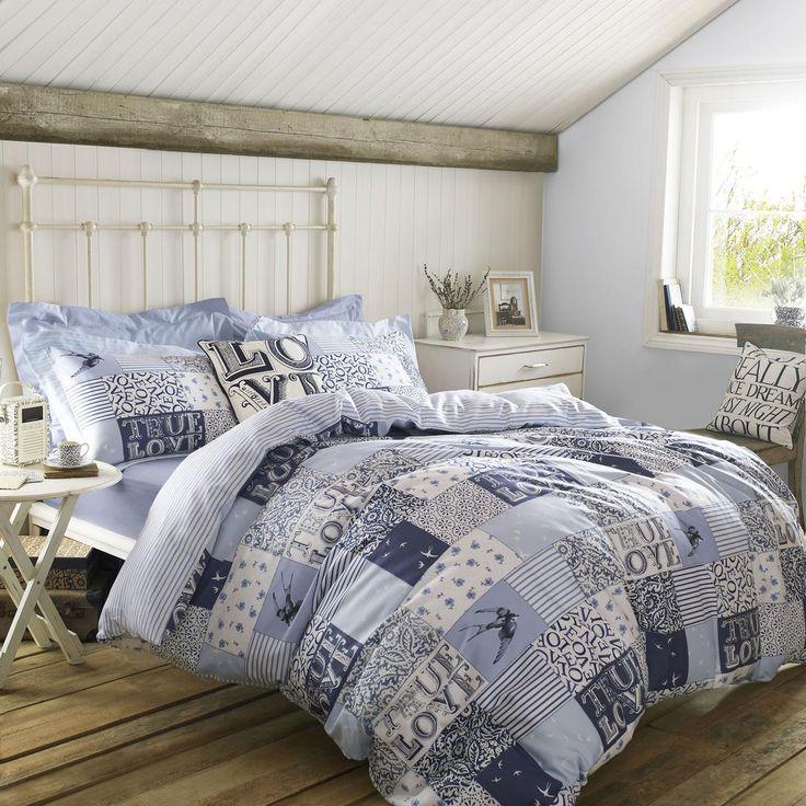 Emma Bridgewater Blue Patchwork Bedding