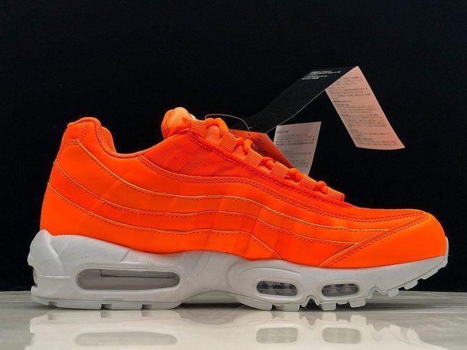 "c1394355852 New Nike Air Max 95 Custom ""Just Do It"" Total Orange White-Black in ..."