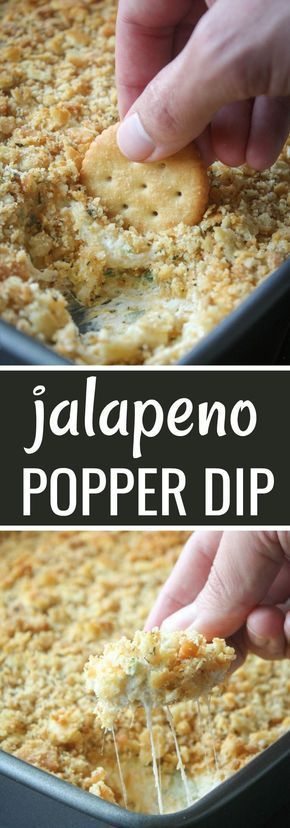 Jalapeno Popper Dip with Ritz Crackers