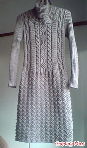 Knitting Pattern Dressing Gown : 641 best Knitting - dress images on Pinterest Knit dress ...