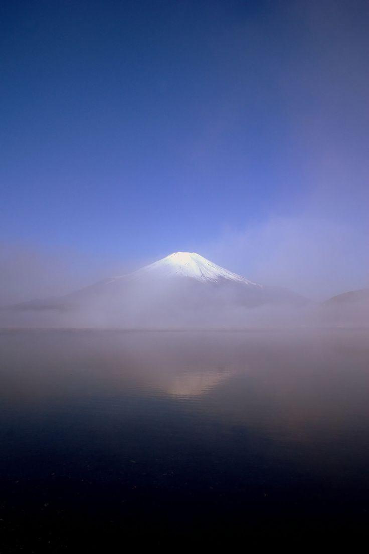 Mist on Mount Fuji, Tokyo, Japan.