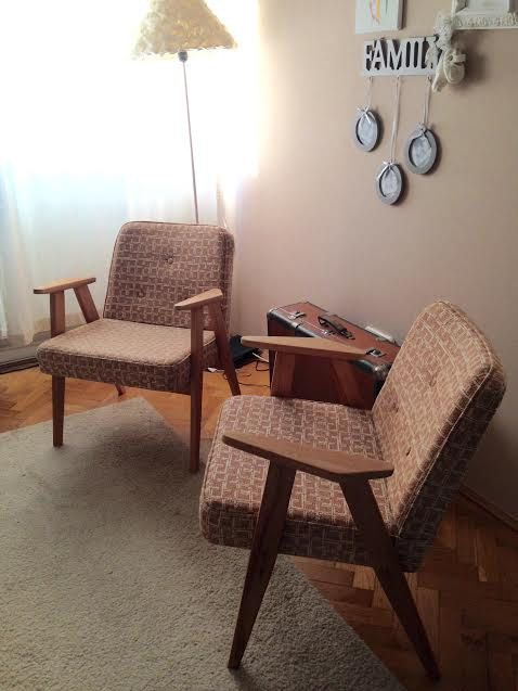 Retro mid century armchairs by ByBeeSee on Etsy
