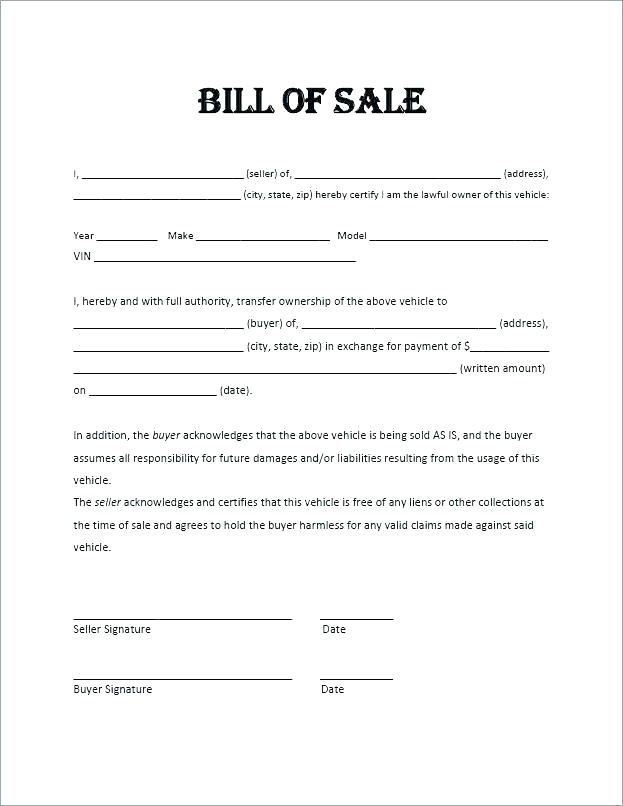Used Car Bill Of Sale Ontario Template Cover Resume Bill Of Sale Template Bill Of Sale Car Sales Template