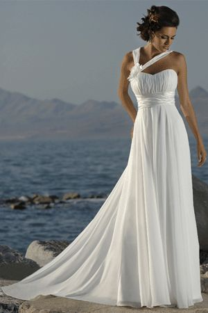 if this was strapless it would be the PERFECT beach wedding dress