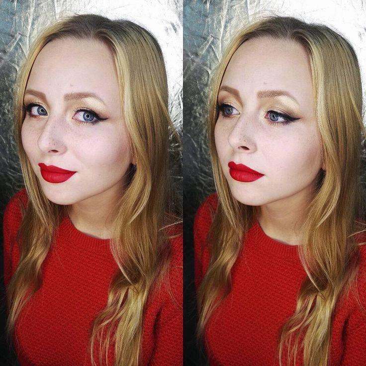 """Голливудская классика - блондинка с красными губами) Макияж для,уже постоянной модели Маргариты выполнила ученица Елена ✌ Кто хочет научиться профессиональному макияжу, могут обратиться в """"Профессионал-плюс"""" @profplusru #свадебныйобразомск #стилистомск #макияжомск #макияжвомске #визажиствомске #визажистомск #невестаомск #невеста55 #свадьбаомск #свадьба #weddingmakeup #wedding #makeupomsk #omskmakeup #makeup #выпускнойомск  #выпускной2017 #девушкиомска #girl #bride #бровиомск #прическивомске…"""