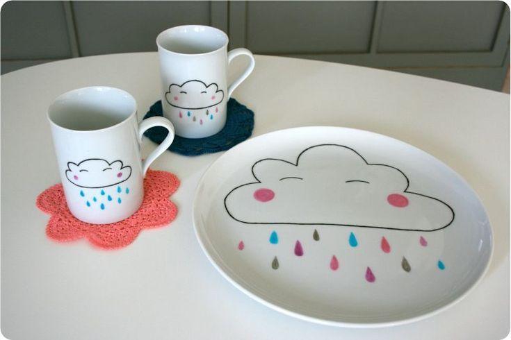 116 best images about peinture sur porcelaine on pinterest. Black Bedroom Furniture Sets. Home Design Ideas