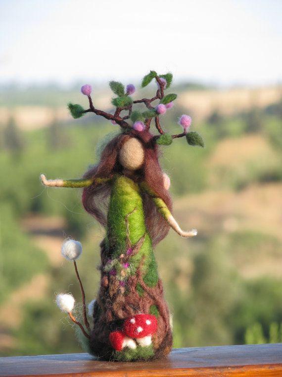 Needle felted tree guardian waldorf inspired. $72.00, via Etsy.