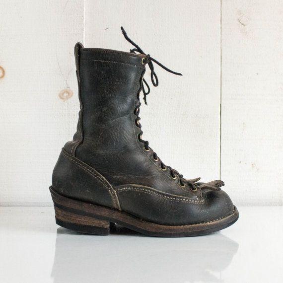 Vintage Wesco Linesman Boots West Coast Shoe by RabbitHouseVintage