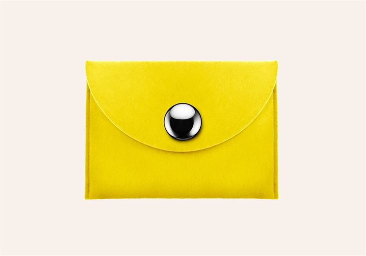 Lipstick Case Felt - Yellow