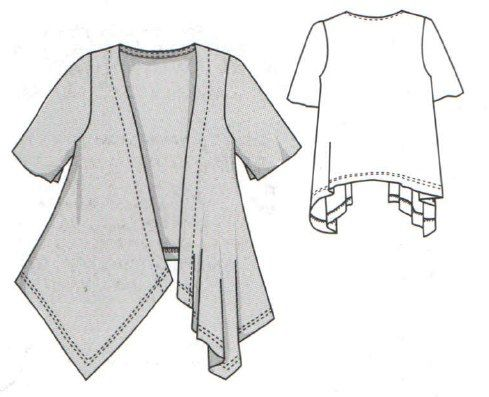 Free Sewing Pattern: Knit Fabric Jacket. Document-www.vk.com Knit Fabric Jacket Sizes 34-52 Russian