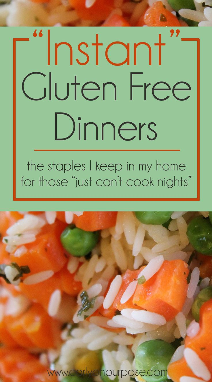 this is a lifesaver when you're exhausted - INSTANT gluten free dinners, from ingredients you have in the house!