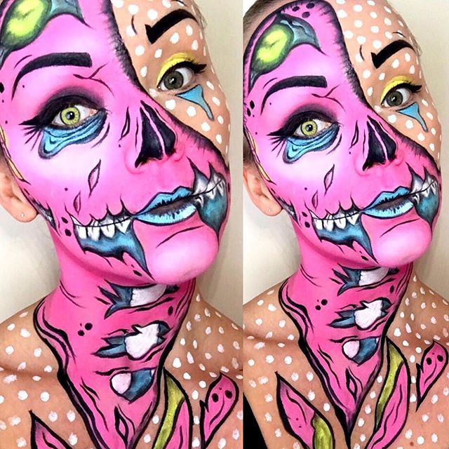 pop art zombie makeup YouTube - Google Search