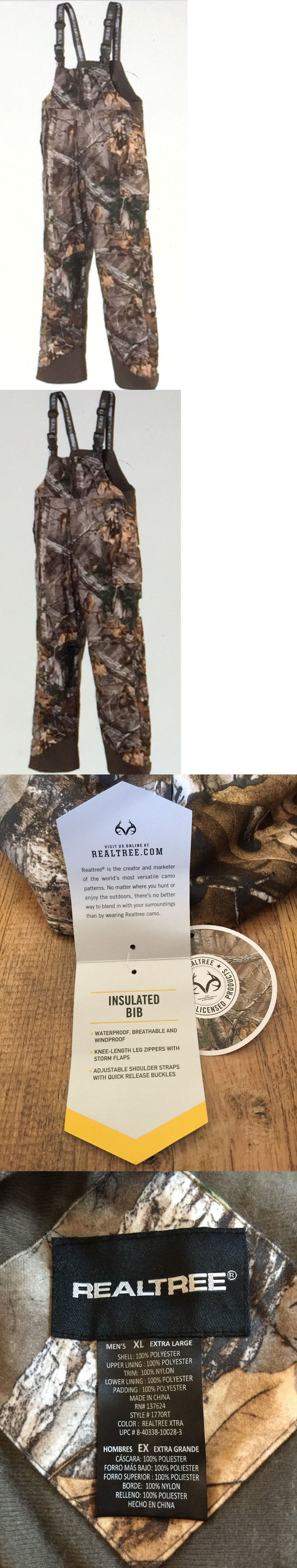Pants and Bibs 177873: Realtree Mens Xl Insulated Hunting Bib Camo Gear Pants Waterproof Overalls Nwt BUY IT NOW ONLY: $83.85