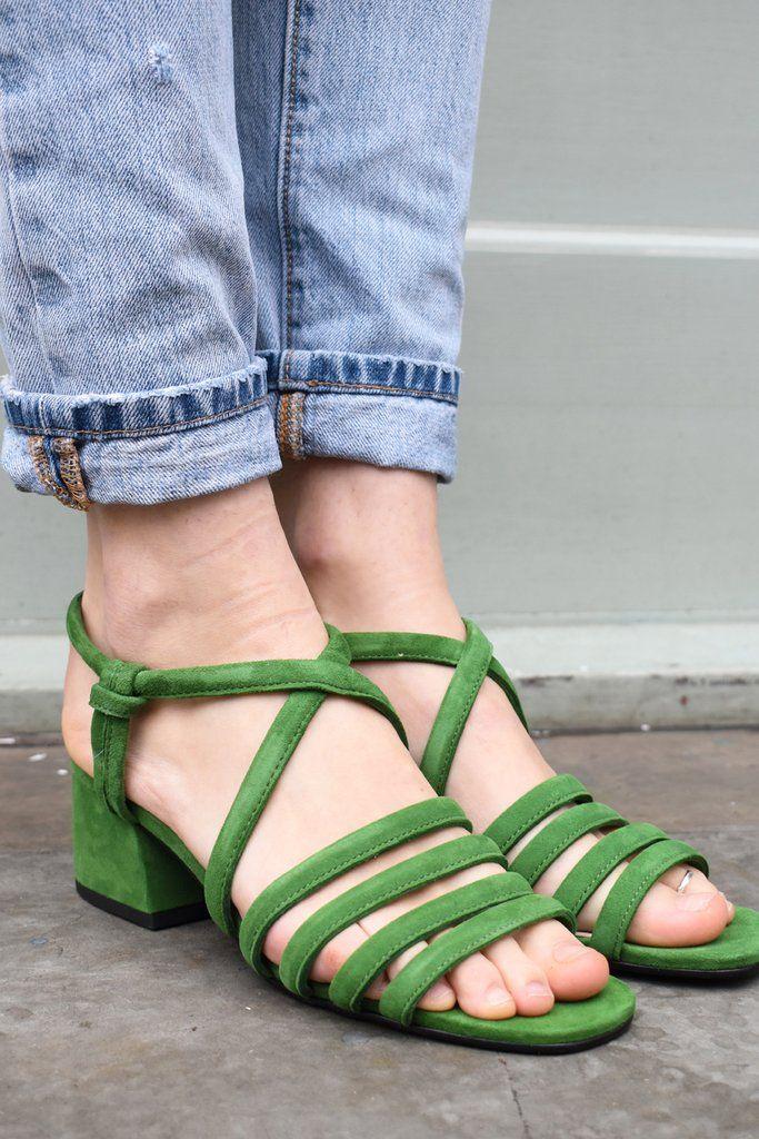 ab86a338790 Vagabond Saide Green Sandals